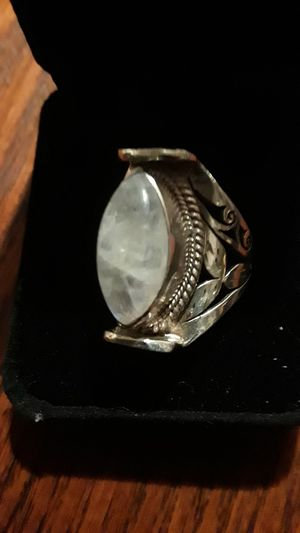 Gorgeous Sterling Silver 925 genuine Moonstone ring. for Sale in New York, NY