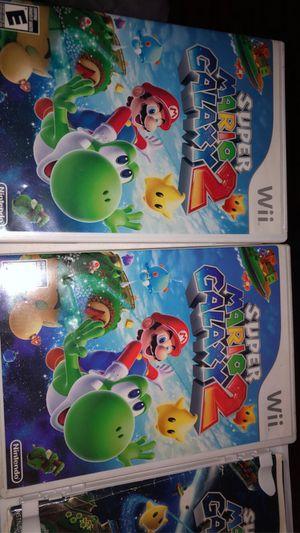 Wii & Wii U games Mario Party 10 •Super Mario Galaxy 2 •Mario 3D world for Sale in Salinas, CA