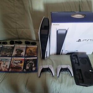 Sony PS5 Blu-Ray Edition Console - White with extras for Sale in Bensenville, IL