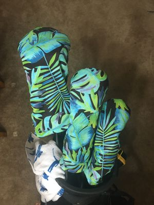 Handmade Head cover set; Driver, Fairway, and Hybrid for Sale in Colton, CA