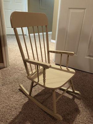Cream Kid Rocking Chair for Sale in Draper, UT