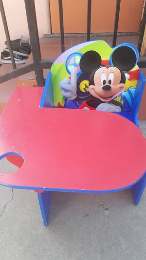 Disney Mickey Mouse Children chair Desk with Storage for Sale in Westminster, CA
