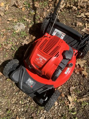 Craftsman self propelled big rear wheel drive lawn mower in good condition for Sale in Chattanooga, TN