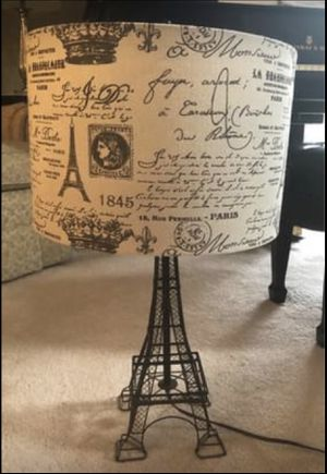 Beautiful Eiffel Tower Lamp w/Drum Shade for Sale in Nashville, TN