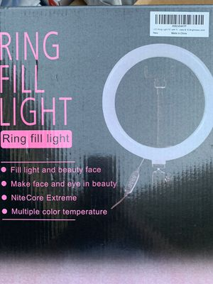 """LED Ring Light 10"""" with Tripod Stand & Phone Holder for Sale in Temple City, CA"""