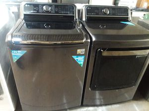 LG black stainless steel washer and gas dryer BRAND NEW 12 MONTHS WARRANTY available for pick up or deliver for Sale in Halethorpe, MD