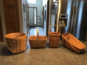 Longaberger baskets - 4/$25! for Sale in Dublin, OH