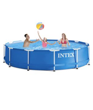 Intex 12' x 30'' Metal Frame Above Ground Pool with Filter Pump for Sale in St. Louis, MO