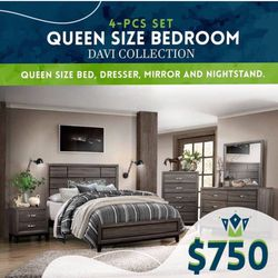 Brand New Queen Bedroom Set for Sale in Massapequa,  NY