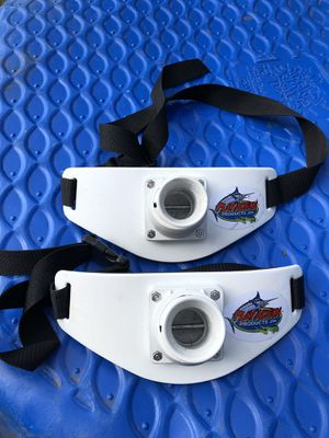 2 Play action product, fish fighting belt/ rod holder belt for Sale in Anchorage, AK