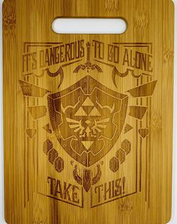 Legend of zelda laser engraved bamboo high quality cuttingboard pop gift for Sale in Los Angeles,  CA