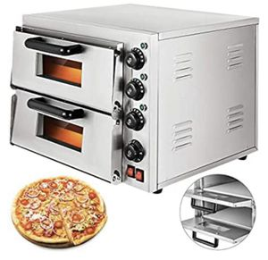 14'' Commercial Pizza Double Oven 3000W Stainless Steel Electric Countertop Multipurpose Oven for Restaurant or Home for Sale in Beaumont, CA