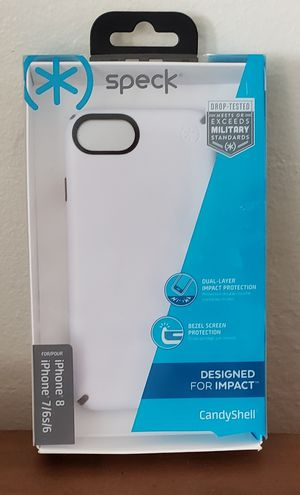 Speck Candyshell iPhone 6/7/8 Case (White with Black Trim) for Sale in Fremont, CA