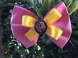 Princess Rapunzel fabric bow for Sale in Anaheim, CA