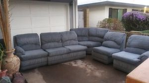 Couch pit fold out bed. Nice mattress eit h er end ottoman kicks out. Better that decent shape make me a offer for Sale in Scottsdale, AZ