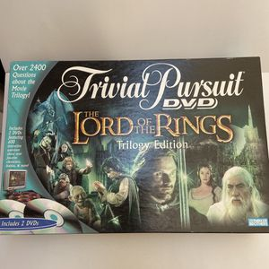 The Lord of the Rings Trilogy Edition Trivial Pursuit DVD Board Game for Sale in San Bernardino, CA