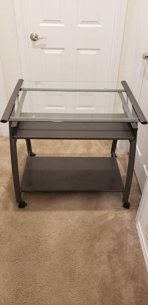 Glass Top desk ****Excellent Condition**** for Sale in Manor, TX