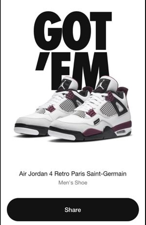 AIR JORDAN 4 RETRO PARIS SAINT-GERMAIN PSG SZ 8.5 for Sale in Cerritos, CA