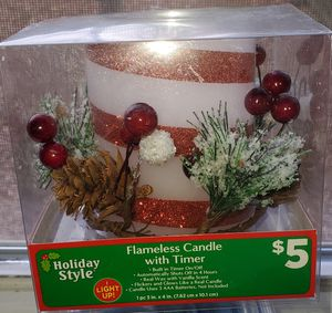 Flamelees Candle with timer for Sale in Mt. Juliet, TN