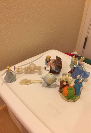Cinderella toys or cake decorations for Sale in Pleasanton, CA