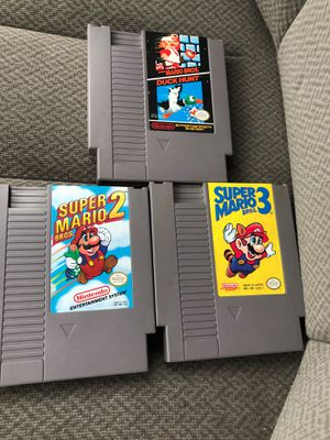 Original Nintendo Super Mario games. Retro Classics. 1,2,&3 for Sale in Woodbury, PA