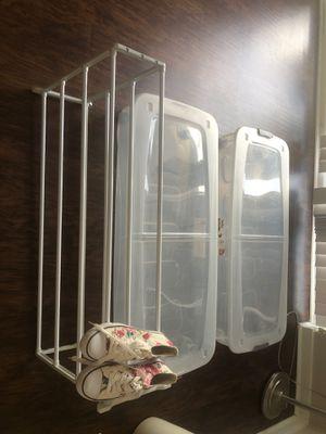 2 storage bins & shoe rack for Sale in Fort Lauderdale, FL