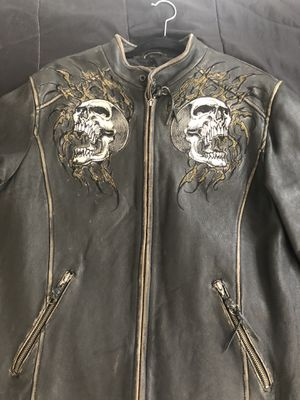 Affliction jacket limited edition hand numbered size. L for Sale in Silver Spring, MD