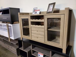 Melissa wine Cabinet, Dark Taupe for Sale in Garden Grove, CA