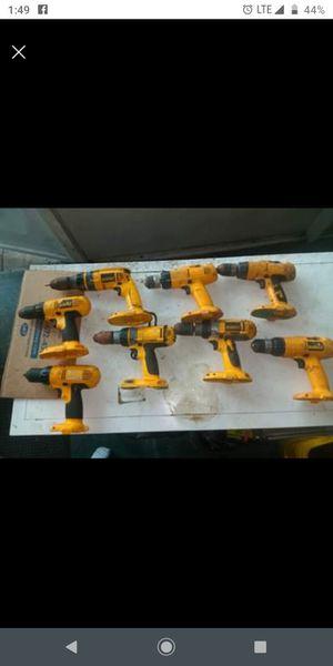 DeWalt 18 volt drills $60 for all for Sale in Hollywood, FL