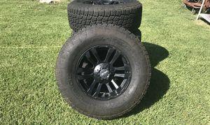 6 Lug Terra Grappler G2 Size 17 Aftermarket Black Truck Tires & Rims for Sale in Mesquite, TX
