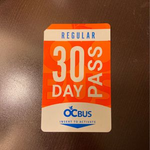 30 Day Bus Pass for Sale in Anaheim, CA