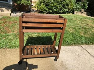 Plant stand on wheels that lock for Sale in Germantown, MD