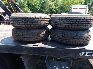 2000 chevy s10 pick up rims and new tires. 205 75 r15. for Sale in Joint Base Andrews, MD