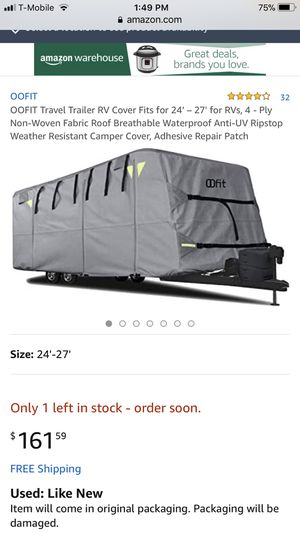 OOFIT DELUXE TRAVEL TRAILER COVER BRAND NEW 24-27 FEET for Sale in Pico Rivera, CA