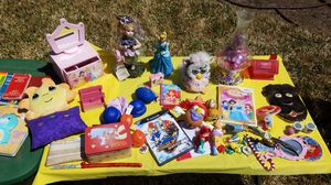 Assorted toys and princess jewelry box for Sale in San Angelo, TX