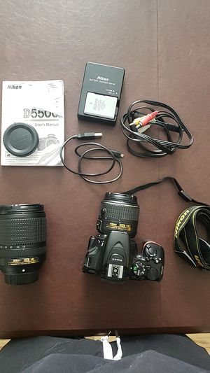 Nikon d5500 with two lenses for Sale in Denver, CO