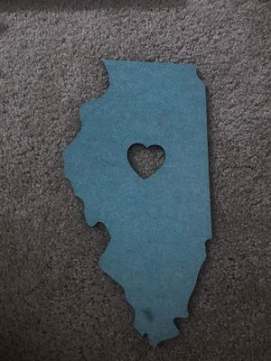 Illinois state wall decor for Sale in Saint Petersburg, FL
