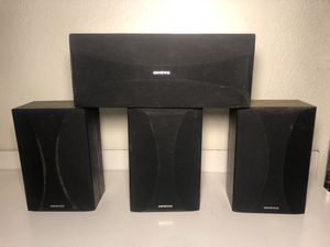4 Onkyo Home Theater 100 Watts Speakers for Sale in Fresno, CA