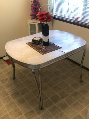 Vintage Formica and chrome dining table for Sale in Bend, OR