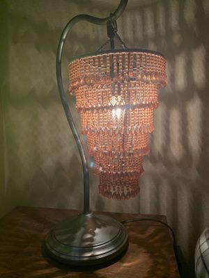 Amber Beaded Desk Lamp for Sale in Helotes, TX