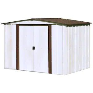 Arrow (Common: 8-ft x 6-ft; Interior Dimensions: 7.9-ft x 5.5-ft) Newburgh Galvanized Steel Storage Shed for Sale in Phoenix, AZ