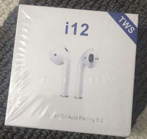 I12 tws wireless earphones AirPod style for Sale in Pembroke Pines, FL