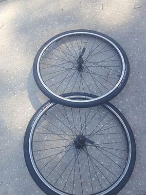 2 Brand new 26' Trek bicycle street tires & rim. Bontrager for Sale in Lakeland, FL