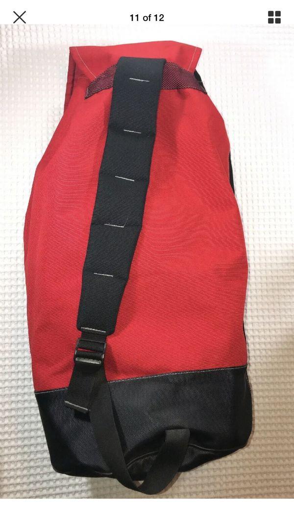 Marlboro oversized travel camping duffle bag/backpack
