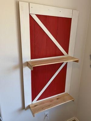 Custom Barn Door Shelf for Sale in Puyallup, WA