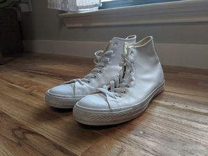 White leather converse high tops for Sale in Garland, TX