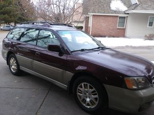 2000 Subaru outback, 5 speed ,new motor , clutch, tires and brakes, heated seats and mirrors, a.c. works fine, custom pioneer stereo. for Sale in Denver, CO