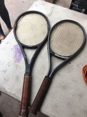 2 Wilson tennis rackets for ($30) for Sale in Long Beach, CA