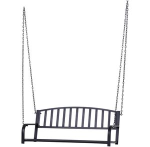 2 Person Outdoor Metal Hanging Patio Porch Swing Weather Resistant Steel Bench for Sale in Plymouth, MA