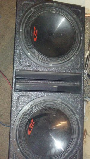 Two Alpine 12 inch subwoofers and box for Sale in Las Vegas, NV